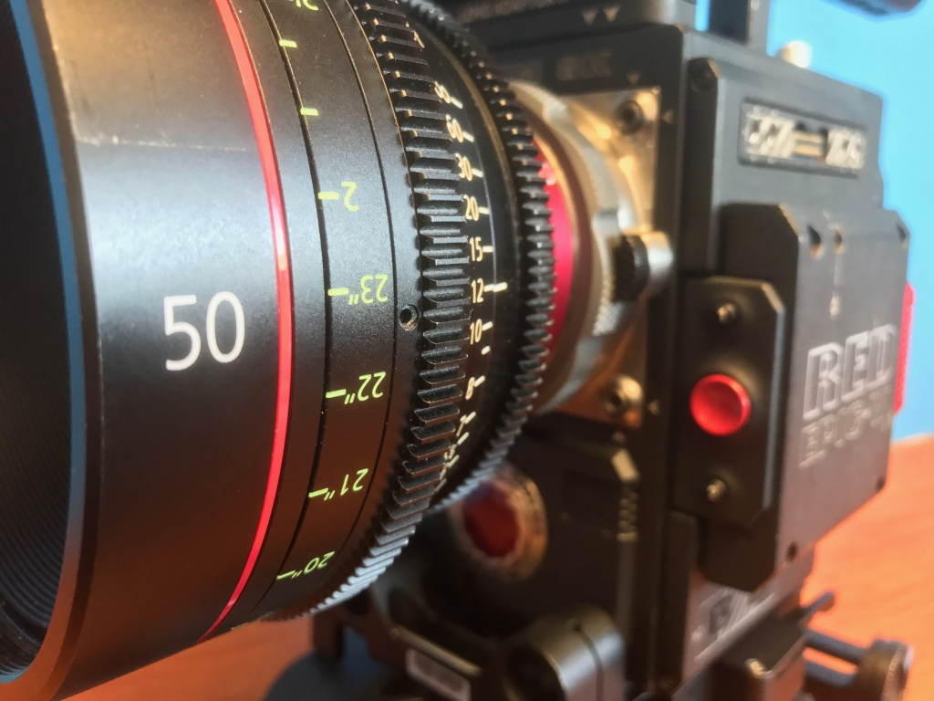 Video Production Lenses Canon CE-X 50mm RED Epic W